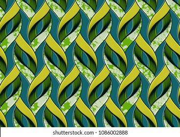 Textile fashion african print fabric super wax. vector illustration file.