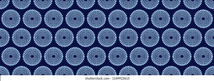 Textile fashion african print fabric, abstract seamless pattern, vector illustration file.