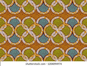 Textile fashion, african print fabric, abstract seamless pattern, vector illustration file.