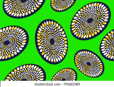 Textile fashion african print fabric super wax, vector illustration file.