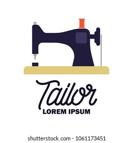textile logo with text space for your slogan / tag line, vector illustration
