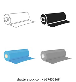 Textile roll icon of vector illustration for web and mobile