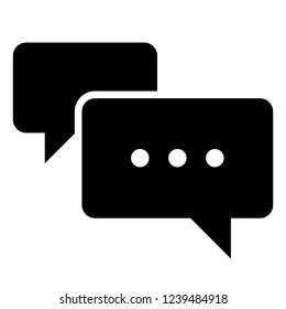 Texting Message Bubble Vector Symbol Icon Illustration Graphic