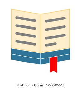 text-lines book icon - text-lines book isolated, education knowledge illustration - Vector  library