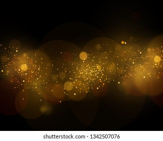 Texture background abstract black and white or silver, gold Glitter and elegant for Christmas. Dust white. Sparkling magical dust particles. Magic concept. Abstract background with bokeh effect.