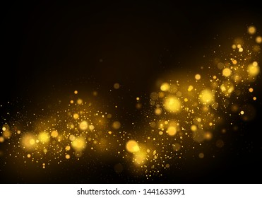 Texture background abstract black and white or silver Glitter and elegant for Christmas. Dust white. Sparkling magical dust particles. Magic concept. Abstract background with bokeh effect Vector