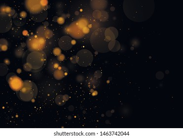 Texture background abstract black and white or silver, gold Glitter and elegant for Christmas. Dust white. Sparkling magical  particles. Magic concept. Abstract background with bokeh effect.  Vector
