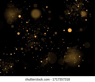 Texture background abstract black and white or silver, gold Glitter and elegant for Christmas Dust white. Sparkling magical dust particles Magic concept Abstract background with bokeh effect. Vector