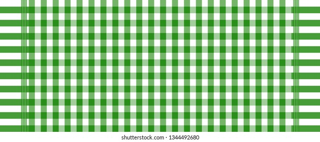 texture background abstract.green and white loincloth vector and illustration.checkers table.