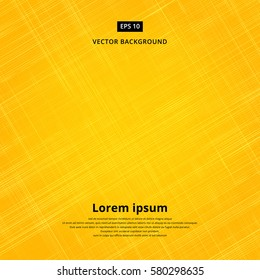 Texture background of yellow fabric. Vector illustration. Canvas patterned thin strips.