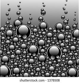 Texture of black bubbles