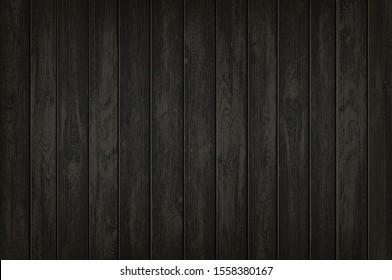 Textur auf schwarzem Holzhintergrund. Holzbanner mit Vorlage für Kopienraum. Vektorillustration.