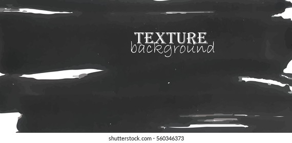 The texture of brush strokes black