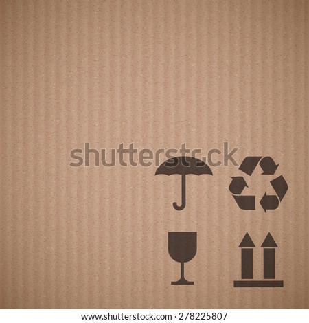 Texture Cardboard Signs Vector Background Stock Vector Royalty Free