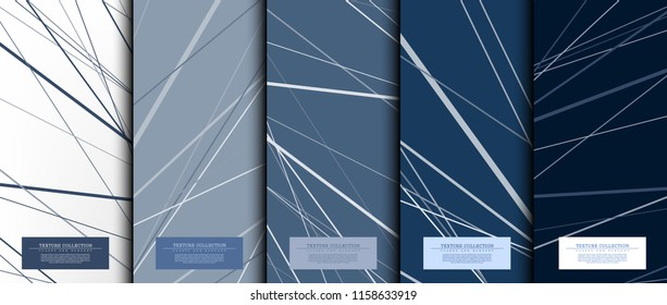 Texture collection abstract pattern texture navy blue background card template vector design