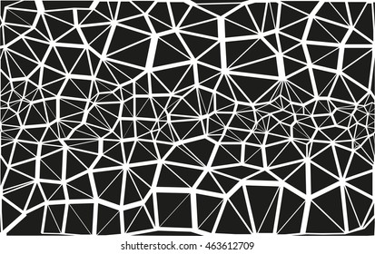 The texture consisting of a set of black triangles. Modern creative background.