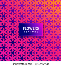 texture of flowers with pink and orange gradients and purple background