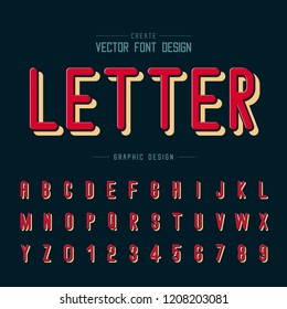 Texture font and grunge alphabet vector, Letter and number design, Graphic text on dark blue background