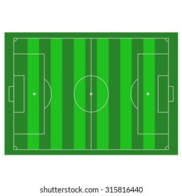 the texture of a football field, top view