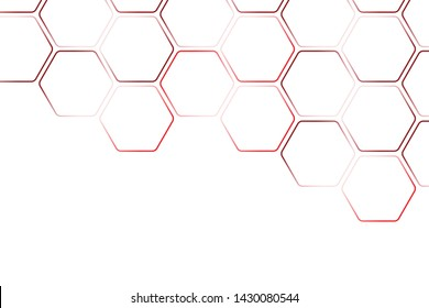 Texture geometric pattern.Abstract paper Hexagon white background  pattern with copy space. Premium Vector