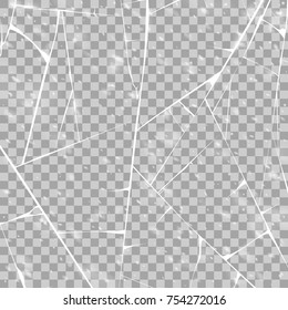 Texture of ice surface. Isolated on transparent background. Vector illustration, eps 10.