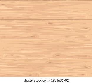Texture of light brown wooden boards. Vector.