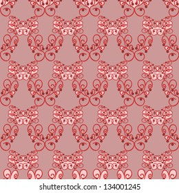 texture to a light red background