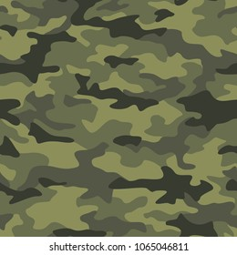 Texture military camouflage seamless pattern. Abstract army and hunting masking ornament.