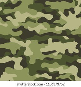 Texture military camouflage seamless pattern. Abstract army and hunting masking ornament background. Vector illustration.