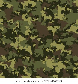 Texture military camouflage seamless pattern. Abstract modern army and hunting masking camo ornament, endless background. Vector illustration.