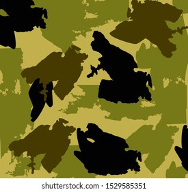 The texture of a military uniform. Vector illustration.
