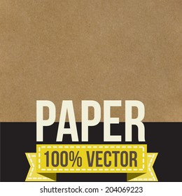 Texture of old crumpled paper.  Vector illustration.
