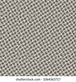 Texture of old rope mesh. Monochrome coarse fabric background. Vector illustration.