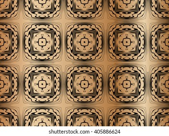 texture pattern under a tree in the form of a symmetrical squares on a background of gradient brown
