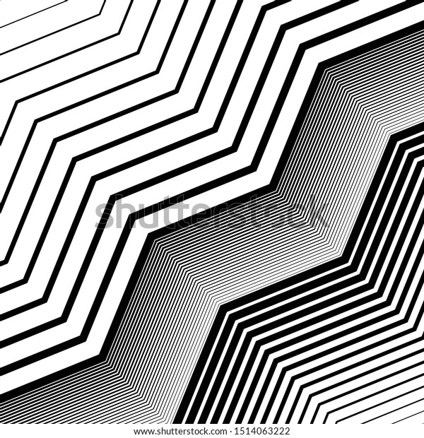 Texture, pattern with wavy, waving grid, mesh of lines. Billowy, zig-zag (criss-cross), undulating stripes, streaks. Abstract geometric background