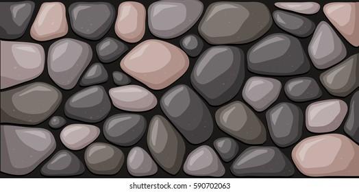 Texture of stone blocks. Vector illustration