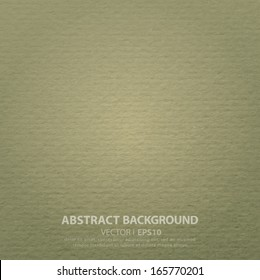 Texture of watercolor paper, cardboard green, khaki, land color. Background with place for text. Vector EPS 10 illustration.