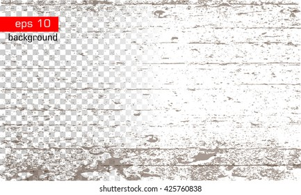 Texture with wood effect on the transparent and white background. Background. Grunge Vector. Texture effect.