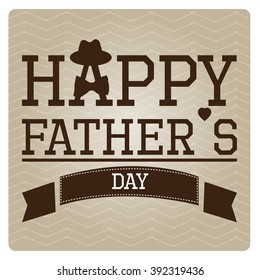 Textured background with text, a hat and a necktie for father's day celebrations