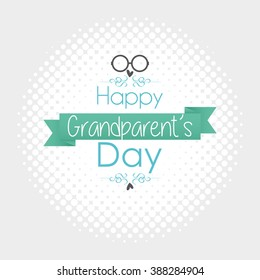 Textured background with text and icons for grandparent's day