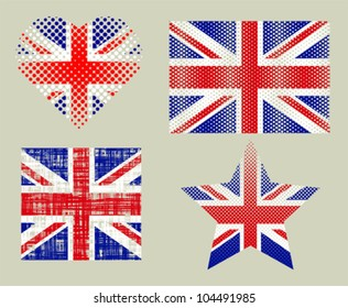 Textured British Flags