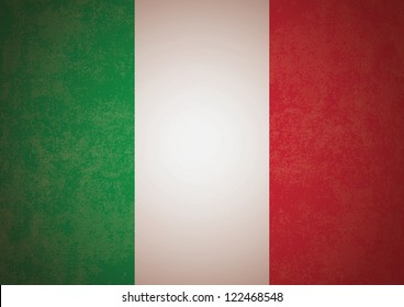 Textured flag of Italy. Vector (eps10) format, good as background. Sizeable.