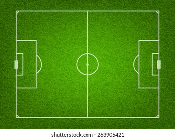 Textured grass soccer or football field. Vector EPS10 illustration.