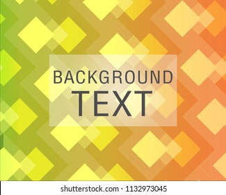 Textured green and orange background with beautiful patterns.