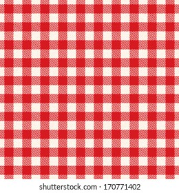 Textured red and white plaid vector background