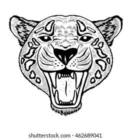 Textured stylized jaguar.