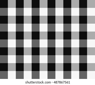 Textured tartan plaid patterns. Seamless vector pattern for textiles. Scottish. Chequered. Black and White check.