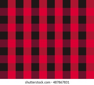 Textured tartan plaid patterns. Seamless vector pattern for textiles. Scottish. Chequered. Red and Black check.