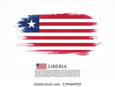 Textured and vector flag of Liberia drawn with brush strokes. Texture and vector flag of Liberia drawn with brush strokes.