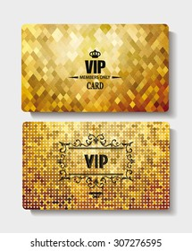 Textured VIP gold cards